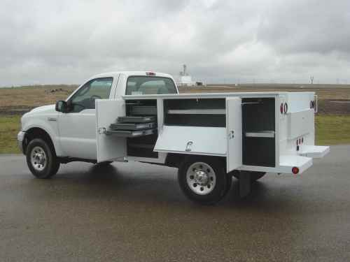 Dakota service bodies installed by Oklahoma Upfitters